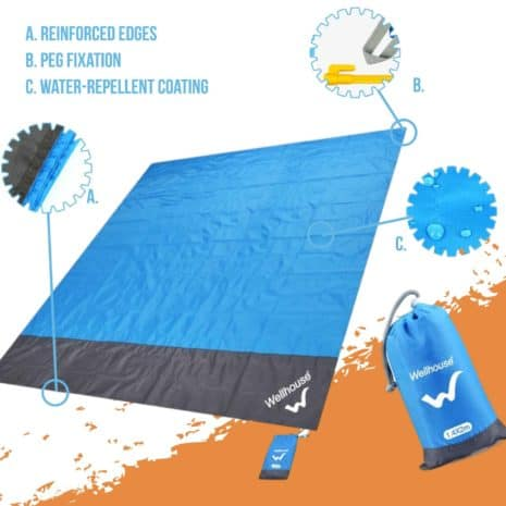 Breezbox sand resistant beach blanket
