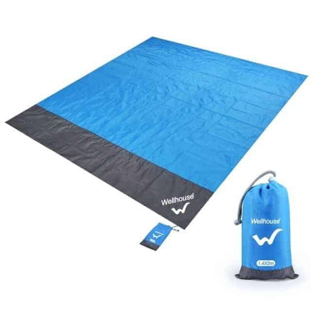 Blue Waterproof beach blanket