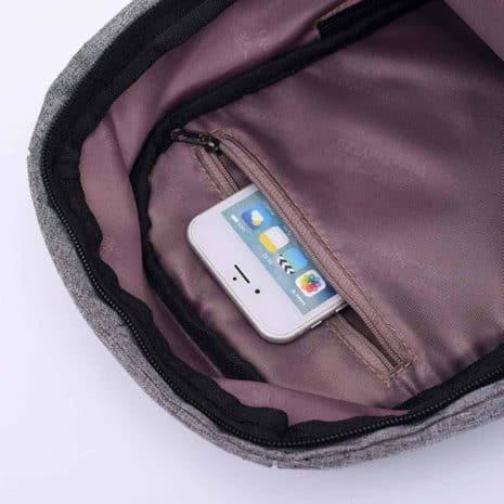 Breazboxanti sac à dos de voyage anti-vol à bandoulière vue intérieure