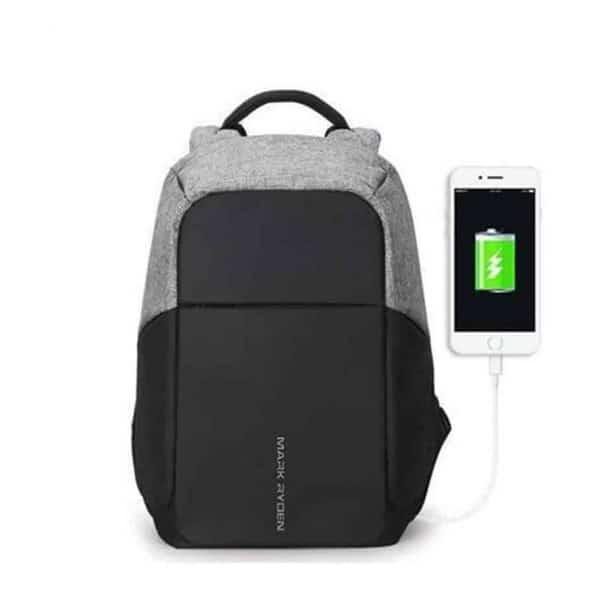 Breezbox anti theft backpack grey