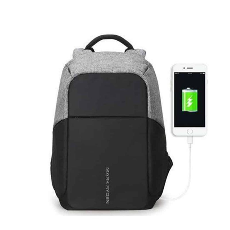 Breezbox anti theft backpack grey