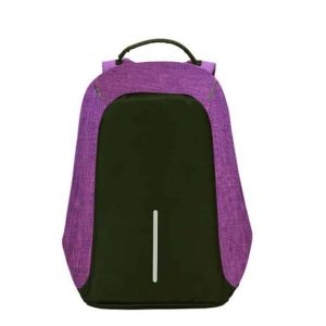 Breezbox anti theft backpack purple