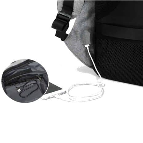 Breezbox anti theft charging backpack