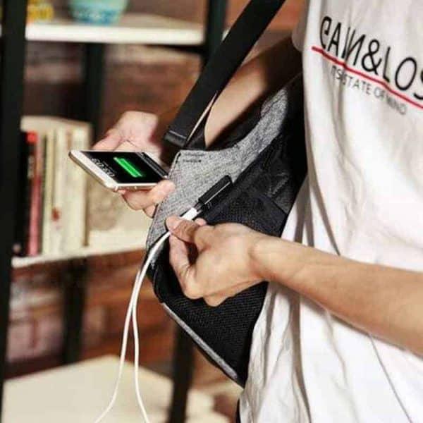 Breezbox anti theft charging backpack usb