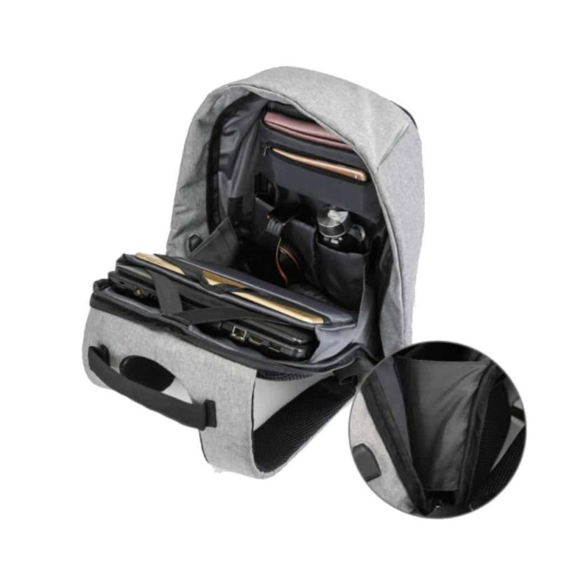 Breezbox anti theft laptop backpack
