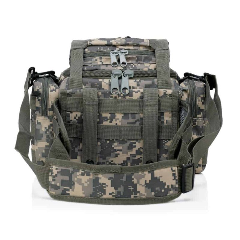 Back view of this ACU tactical bag for cameras
