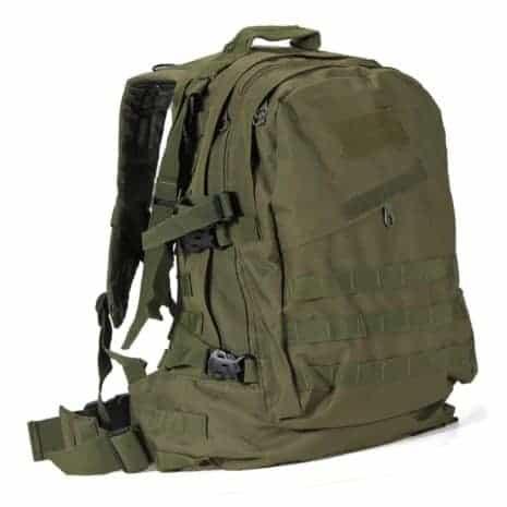 Green military assault packs