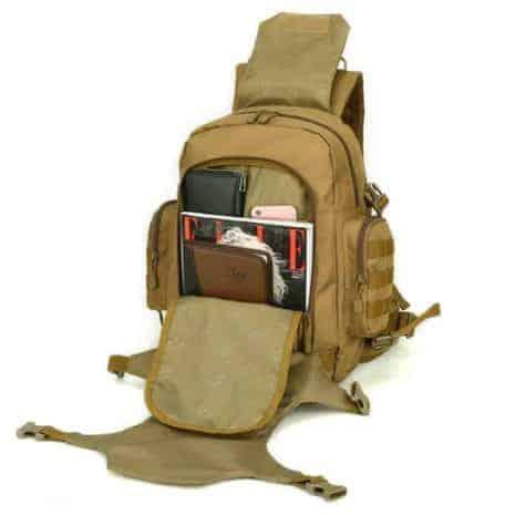 Breazbox marine corps rucksack inside view