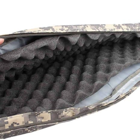 Breazbox soft rifle case for hunting inside view