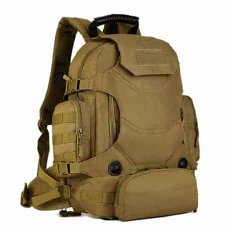Our tan marine backpack is perfect for every day use.