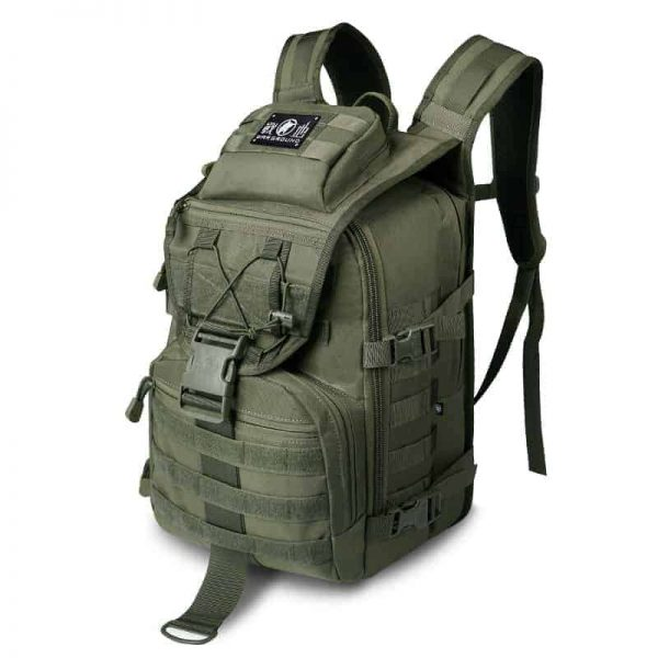 Breezbox army green tactical laptop backpack