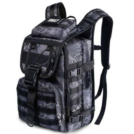 Breezbox black crepe tactical laptop backpack