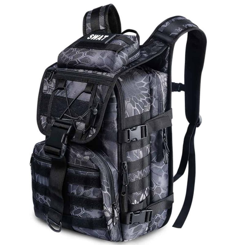 Breezbox black crepe tactical laptop backpack