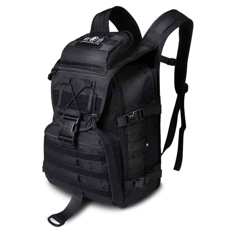 Breezbox black tactical laptop backpack