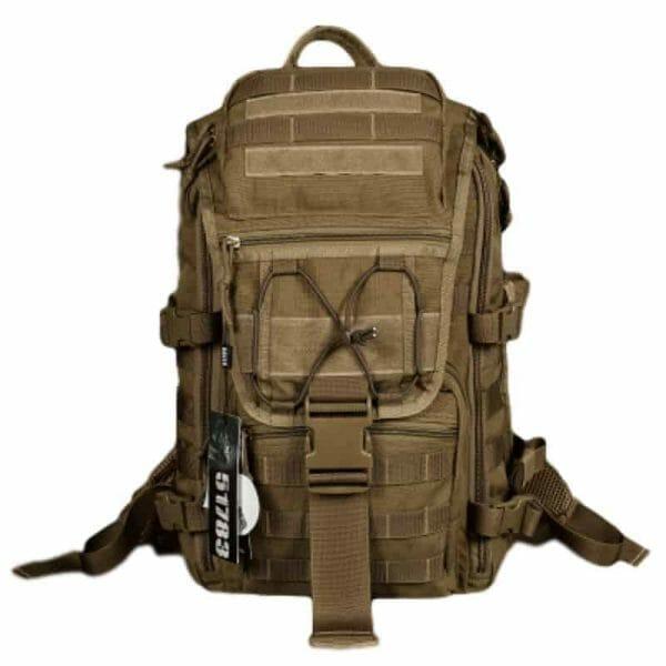 Breezbox khaki tactical laptop backpack