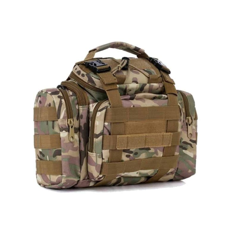 Camouflage tactical bag - side view