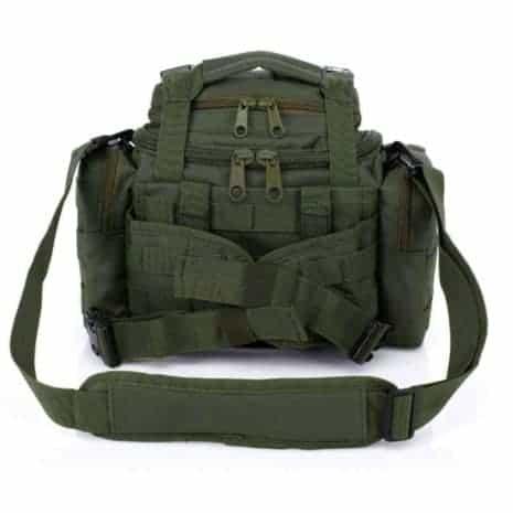 Green camera bag - back view