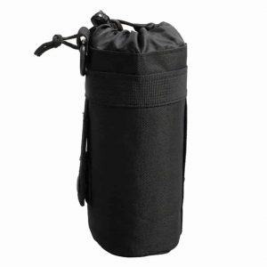 black water bottle holder for backpack