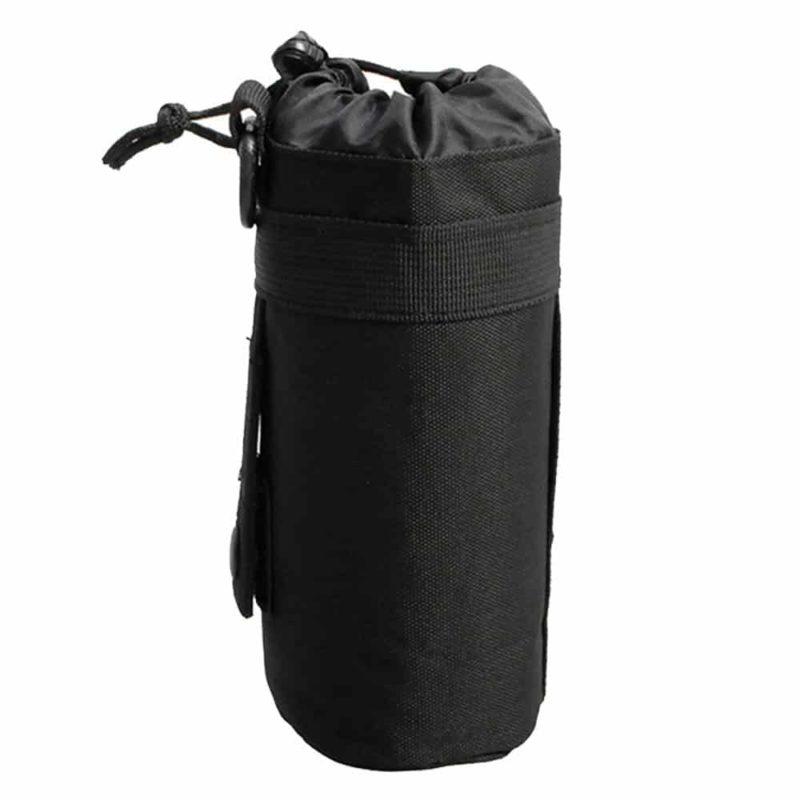 black water bottle holder for backpack