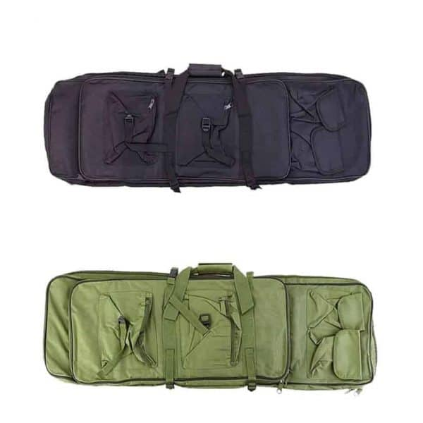 Soft rifle case backpack available in two colors